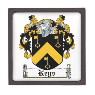 Escudo de la familia de las llaves caja de recuerdo de calidad