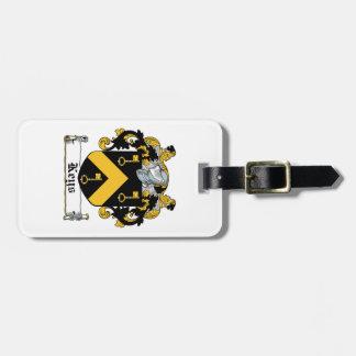 Escudo de la familia de las llaves etiqueta para equipaje