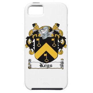 Escudo de la familia de las llaves iPhone 5 Case-Mate coberturas