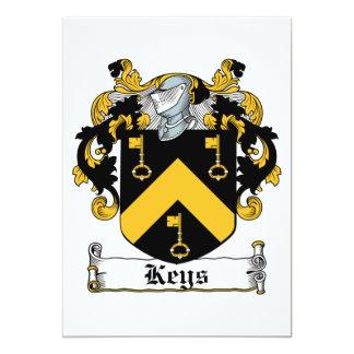 Escudo de la familia de las llaves invitacion personal