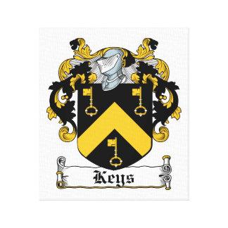 Escudo de la familia de las llaves impresión en lona
