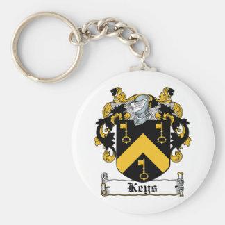 Escudo de la familia de las llaves llaveros personalizados