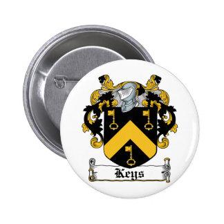 Escudo de la familia de las llaves pin