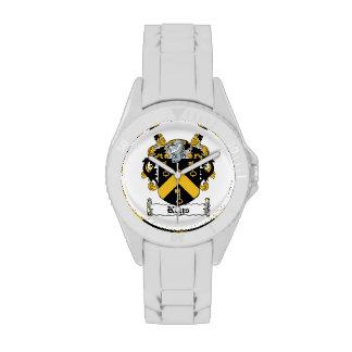 Escudo de la familia de las llaves reloj