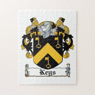 Escudo de la familia de las llaves rompecabeza