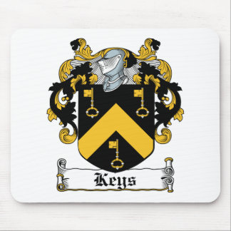 Escudo de la familia de las llaves tapete de raton