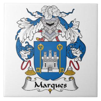 Escudo de la familia de las marcas azulejo cuadrado grande