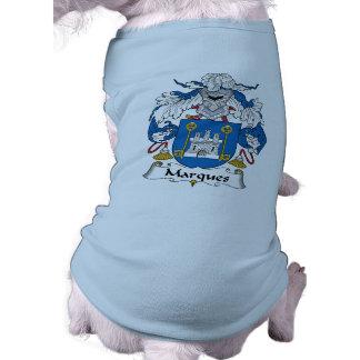 Escudo de la familia de las marcas camisas de mascota