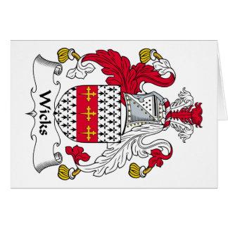 Escudo de la familia de las mechas felicitaciones