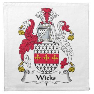 Escudo de la familia de las mechas servilletas de papel