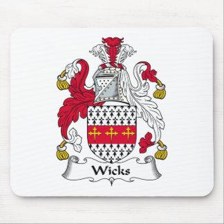 Escudo de la familia de las mechas tapete de raton