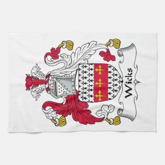 Escudo de la familia de las mechas toallas de mano