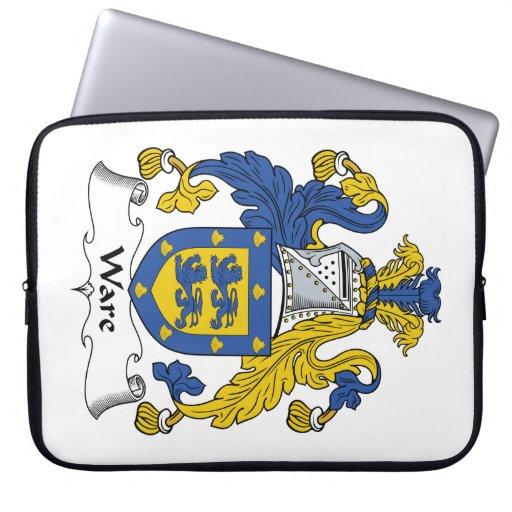 Escudo de la familia de las mercancías mangas computadora