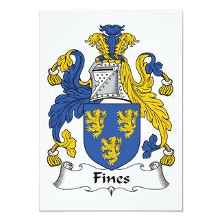 """Escudo de la familia de las multas invitación 5"""" x 7"""""""