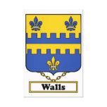 Escudo de la familia de las paredes lienzo envuelto para galerías