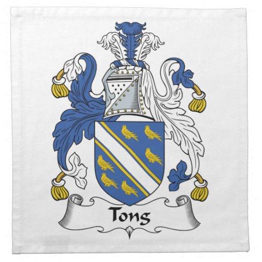 Escudo de la familia de las pinzas servilletas imprimidas