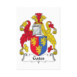 Escudo de la familia de las puertas impresión en lona