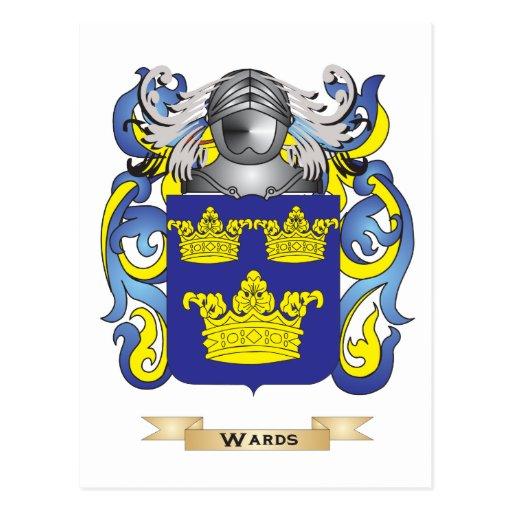 Escudo de la familia de las salas (escudo de armas postal