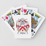 Escudo de la familia de las salinas baraja cartas de poker