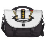 Escudo de la familia de las semanas bolsas para portátil