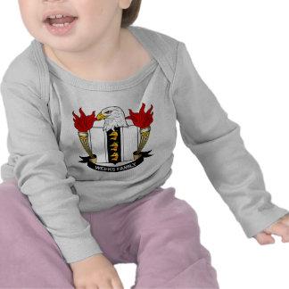 Escudo de la familia de las semanas camisetas
