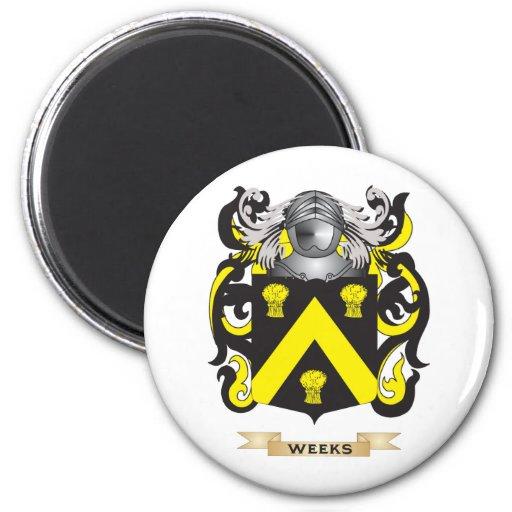 Escudo de la familia de las semanas (escudo de arm iman para frigorífico