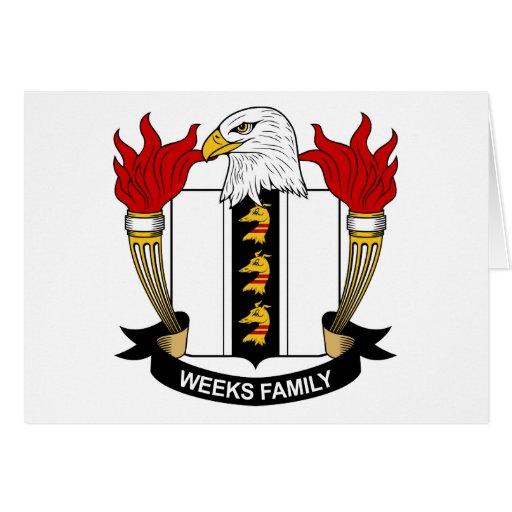 Escudo de la familia de las semanas felicitacion
