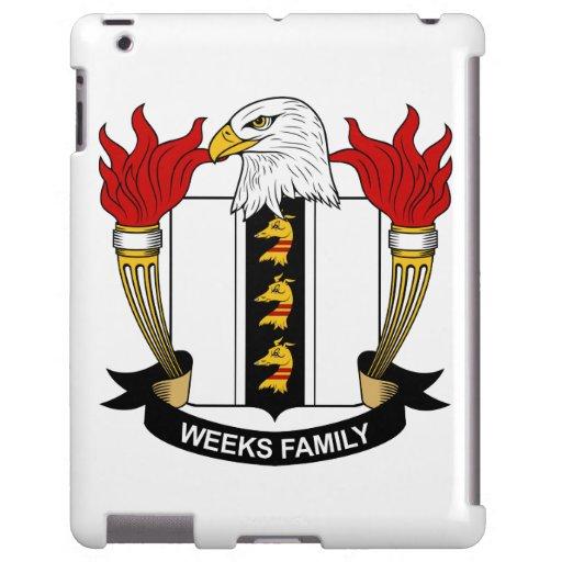 Escudo de la familia de las semanas funda para iPad