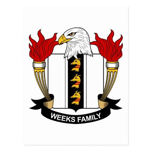Escudo de la familia de las semanas postal