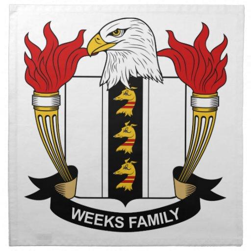 Escudo de la familia de las semanas servilletas de papel
