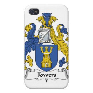 Escudo de la familia de las torres iPhone 4 carcasas