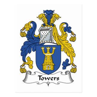 Escudo de la familia de las torres postal
