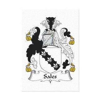 Escudo de la familia de las ventas impresiones en lona