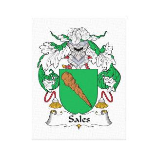 Escudo de la familia de las ventas impresión en lona