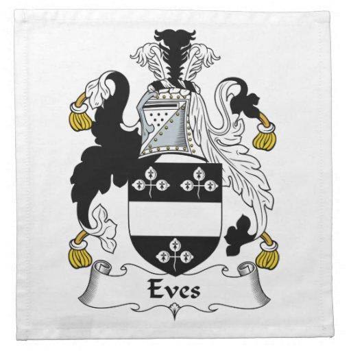 Escudo de la familia de las vísperas servilletas de papel