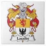 Escudo de la familia de Lasalde Azulejo Ceramica