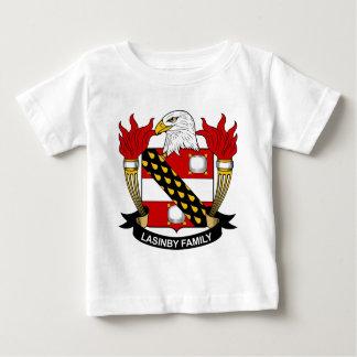 Escudo de la familia de Lasinby Playera De Bebé