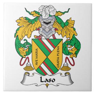 Escudo de la familia de Laso Tejas Ceramicas