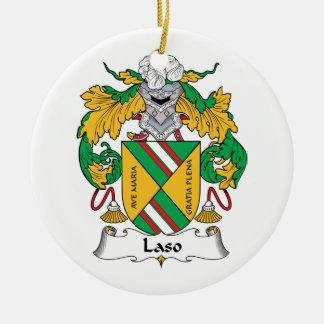 Escudo de la familia de Laso Adornos De Navidad