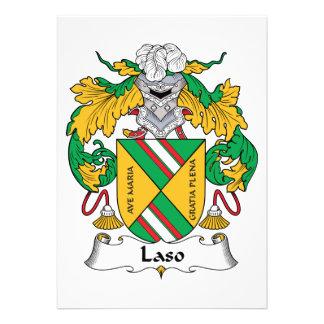 Escudo de la familia de Laso Anuncio Personalizado