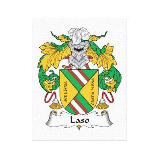 Escudo de la familia de Laso Impresión En Lienzo Estirada
