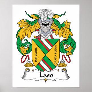Escudo de la familia de Laso Posters