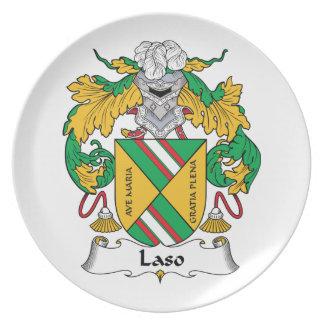 Escudo de la familia de Laso Platos Para Fiestas