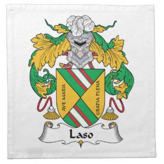 Escudo de la familia de Laso Servilleta