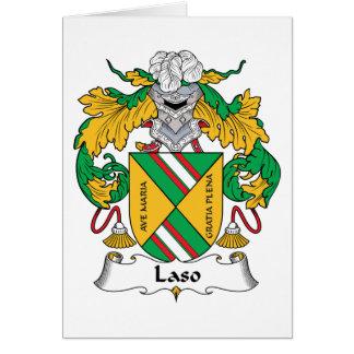 Escudo de la familia de Laso Tarjetón
