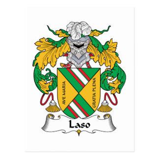 Escudo de la familia de Laso Tarjetas Postales
