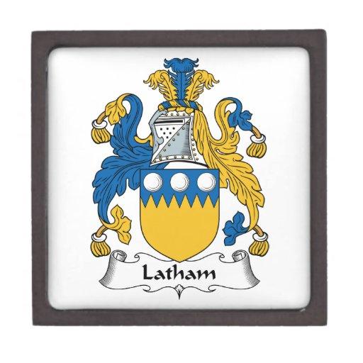 Escudo de la familia de Latham Caja De Regalo De Calidad