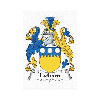 Escudo de la familia de Latham Impresiones De Lienzo