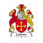 Escudo de la familia de Latimer Postales