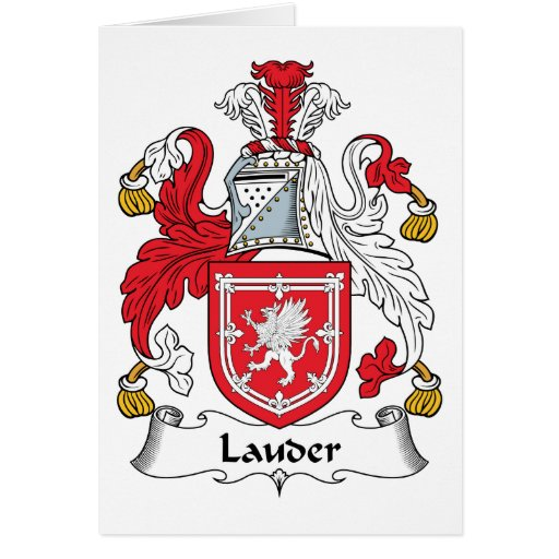 Escudo de la familia de Lauder Felicitación